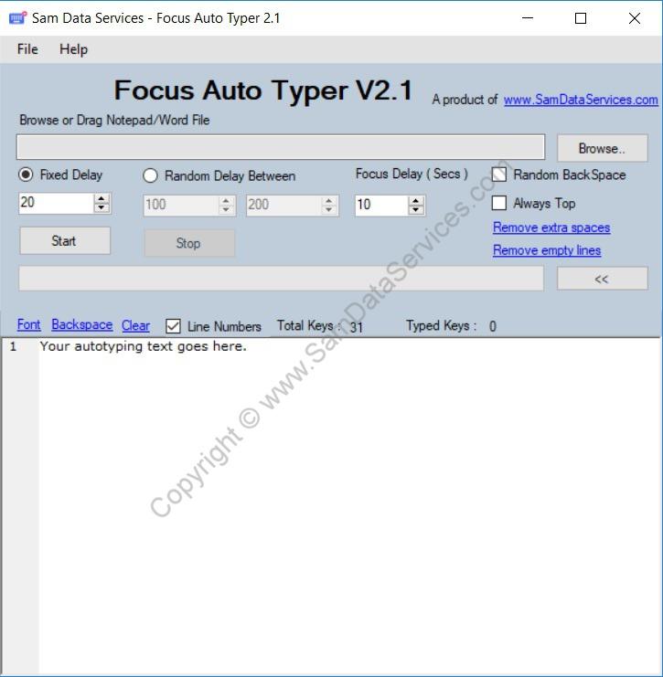 Focus Auto Typer