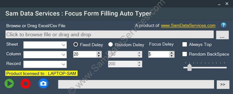 Focus Form Filling automatic typing software